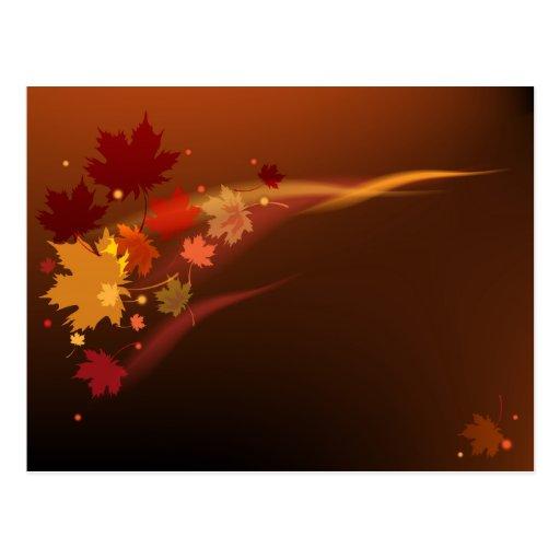 El diseño natural decorativo de la postal del otoñ