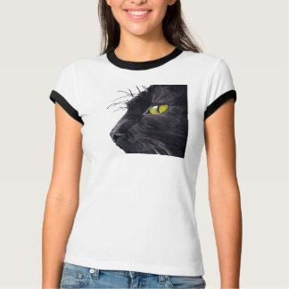 El diseño para mujer del gato negro de Bella del Playera