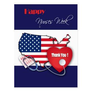 El diseño patriótico cuida las postales del