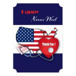 El diseño patriótico cuida tarjetas planas de invitación 12,7 x 17,8 cm