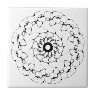 El diseño radial abstracto burbujea 1 azulejo cerámica