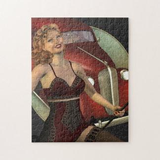 El diseño retro del corista puzzle con fotos