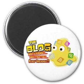 El diseño social de la gota del blog imán redondo 5 cm