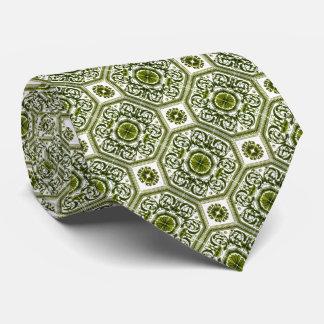El diseño vertical geométrico verde y blanco sirve corbatas