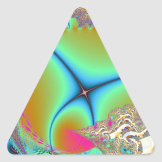 """El diseño """"X azul"""" del fractal creó por el artista Pegatina Triangular"""