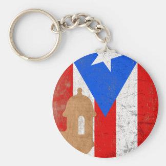 EL distessed Moro Puerto Rico png Llaveros Personalizados