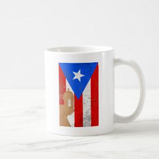 EL distessed Moro Puerto Rico .png Tazas