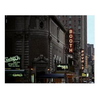 El distrito del teatro de New York City del vintag Tarjetas Postales