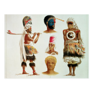 El diverso baile viste gastado en Nakello, Fiji Postal