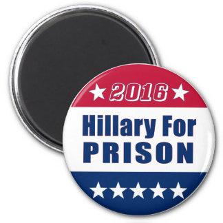 El   divertido Hillary para la elección 2016 de la Imán Redondo 5 Cm