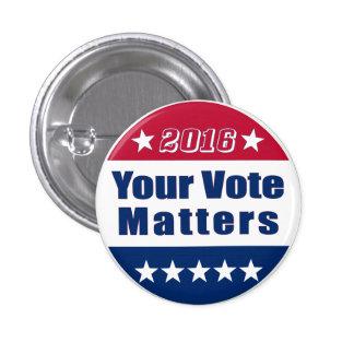 El   divertido su elección 2016 del voto el pin redondo de 1 pulgada