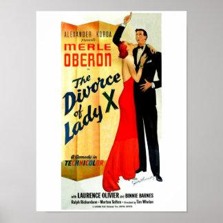 El divorcio de señora X Poster