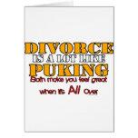 El divorcio es como Puking Felicitación