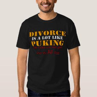 El divorcio es como Puking Playeras