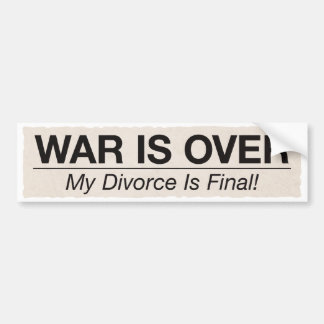 El divorcio es final etiqueta de parachoque