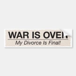 El divorcio es final pegatina para auto
