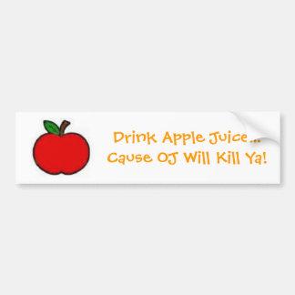 ¡El DO de la causa del zumo de manzana de la bebid Etiqueta De Parachoque