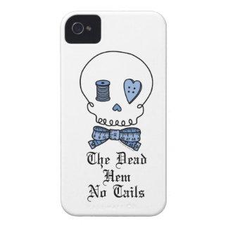 El dobladillo muerto ningunas colas (azules) iPhone 4 Case-Mate funda