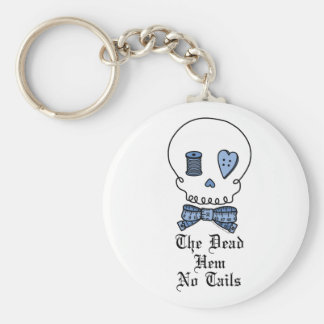 El dobladillo muerto ningunas colas (azules) llaveros personalizados