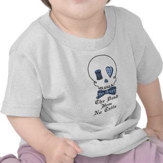 El dobladillo muerto ningunas colas (azules) camiseta