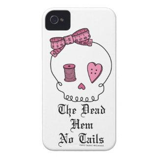 El dobladillo muerto ningunas colas (rosa) Case-Mate iPhone 4 protectores