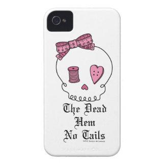 El dobladillo muerto ningunas colas (rosa) Case-Mate iPhone 4 cárcasa