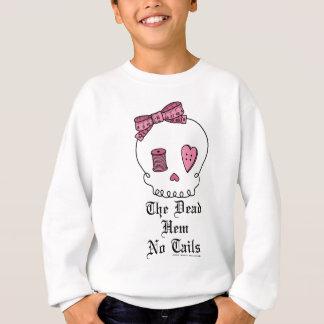 El dobladillo muerto ningunas colas (rosa) sudadera