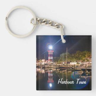 El doble de la ciudad del puerto de Hilton Head Llaveros