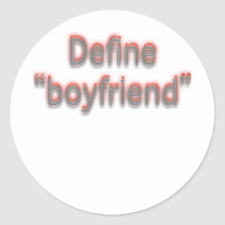 El doble define al novio pegatina redonda