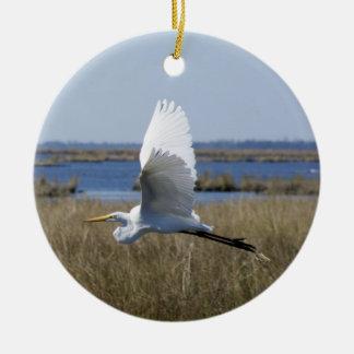el DOBLE del egret ECHÓ A UN LADO ornamento Ornaments Para Arbol De Navidad