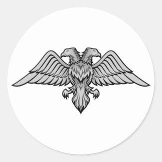 El doble dirigió el águila etiqueta redonda