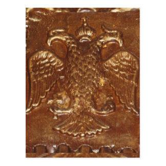 El doble dirigió el escudo de armas del imperio tarjeta postal