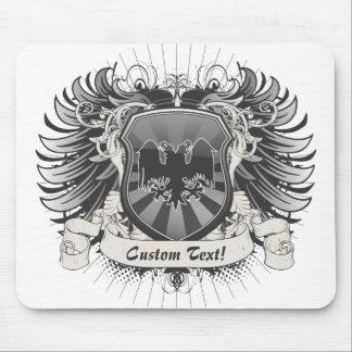El doble dirigió el escudo de Eagle Alfombrillas De Ratón