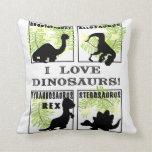 El doble echó a un lado almohada del dinosaurio