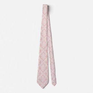el DOBLE francés del lazo del damasco del vintage Corbata