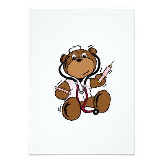 El doctor Bear señora Invitación Personalizada