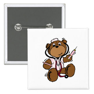 El doctor Bear señora Pin Cuadrada 5 Cm