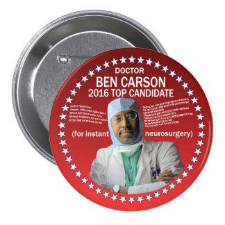 El doctor Ben Carson Pin Redondo De 3 Pulgadas