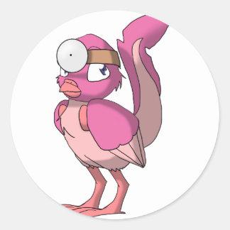 El doctor Berry Yogurt Reptilian Bird Pegatina Redonda