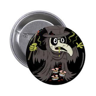 El doctor Button de la plaga Pin Redondo 5 Cm