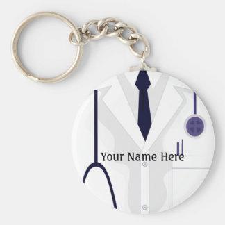 El doctor Button Keychain de la chaqueta de la cap Llavero Redondo Tipo Pin