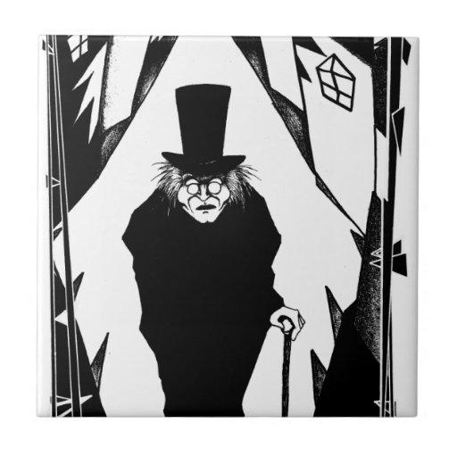 El doctor Caligari Azulejo Cuadrado Pequeño