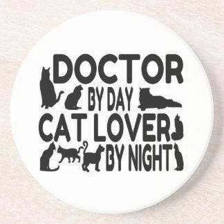 El doctor Cat Lover Posavasos Personalizados