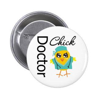 El doctor Chick Pin Redondo De 2 Pulgadas