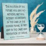 El doctor de la placa futura de la cita de la quir