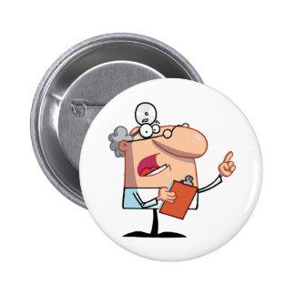 El doctor de sexo masculino Holding A Clipboard y  Pins