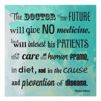 El doctor del poster futuro de la cita de Edison