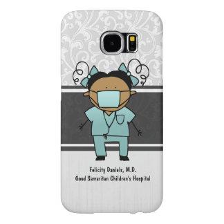 El doctor étnico conocido de encargo Nurse Medical Fundas Samsung Galaxy S6
