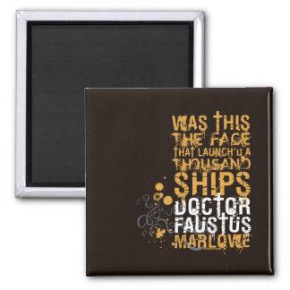 El doctor Faustus Quote Imanes De Nevera