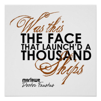 El doctor Faustus Quote Poster